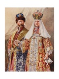 Emperor and Empress in Ancient Dress Giclee Print by Frederic De Haenen