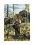 Farmer in Wood, 1861 Giclee Print by Giovanni Fattori