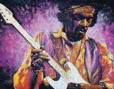 Jimi Hendrix Posters af Stephen Fishwick