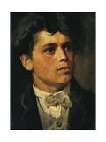 Self-Portrait at 20 Years Giclee Print by Giovanni Segantini