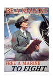 Be a Marine: Free a Marine to Fight, 1943 Giclee Print