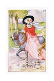 A Lively Lady from Bath Giclee Print by Anne Anderson
