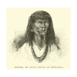 Simuco, an Antis Indian of Chiruntia Giclee Print by Édouard Riou