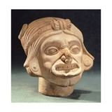 Ceramic Human Head Originating from Rio Iscuande Giclee Print