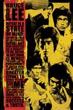 Bruce Lee Montage Poster