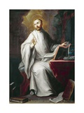 St Bernard Giclee Print by Miguel Cabrera