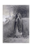 Shepherdess Giclee Print by Jean-François Millet