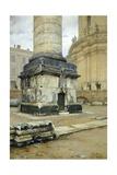 Trajan's Column in Rome Giclee Print by Luigi Bazzani