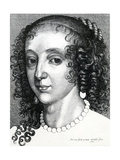 Queen Henrietta Maria, 1641 Giclee Print by Wenceslaus Hollar