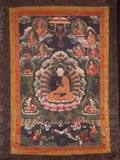 Thangka of Nagarjuna Photographic Print