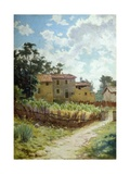Tuscan Landscape Giclee Print by Adolfo Belimbau