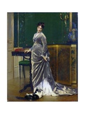 The Playful Cat Giclee Print by Gustave Leonard de Jonghe