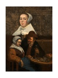 A Dutch Tavern Scene, Early 17th Century Giclee Print by Adriaen Brouwer