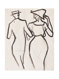 Couple Walking Giclee Print by Henri Gaudier-brzeska
