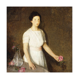 Girl with Red Rose Giclee Print by Charles Webster Hawthorne