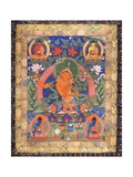 Thangka of Arapachana Manjushri Giclee Print