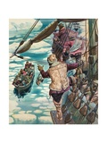 Henry Hudson Being Set Adrift Giclee Print by Peter Jackson