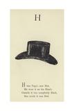 The Letter H Giclée-Druck von Edward Lear