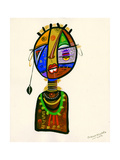 Poetic Faces, 2013 Giclee Print by Oglafa Ebitari Perrin