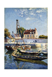 Barges, 1885 Giclee Print by Alfred Sisley