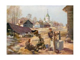 Peaceful Work Behind the Front in Russian Poland Giclee Print by Felix Schwormstadt