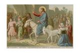 The Triumphal Entry of Jesus into Jerusalem Giclée-tryk