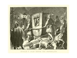 Charles V Flies before the Protestants Giclee Print