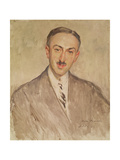Study for the Portrait of Andre Maurois Giclee Print by Jacques-emile Blanche
