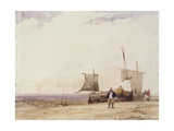 Beach Scene Giclee Print by Richard Parkes Bonington