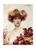 A Portrait of Sarah Bernhardt Giclee Print by Louise Abbema