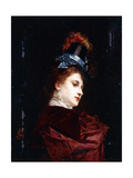 The New Hat Giclee Print by Gustave Jacquet