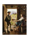 Tyrolean Couple Giclee Print by Emil Karl Rau