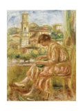 Woman at the Window with a View of Old Nice, 1918 Giclee Print by Pierre Auguste Renoir