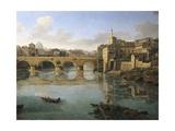 View of Ponte Sisto Giclée-Druck von Gaspar van Wittel