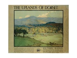 The Uplands of Dorsetm C.1924 Giclee Print by Donald Maxwell