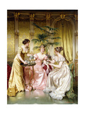 Three for Tea Giclee Print by Joseph Frederic Soulacroix
