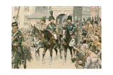 Entry of the Allied Monarchs in Paris in 1815 Giclee Print by Carl Rohling