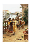 On a Venetian Balcony Giclee Print by Antonio Paoletti