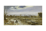 Winter Landscape, 1614 Giclee Print by Esaias I van de Velde