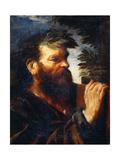 Head of a Sage Giclée-tryk af Pier Francesco Mola