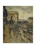 L'Arc De Triomphe, C.1930-1931 Giclee Print by Gustave Loiseau