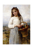 A Young Girl with a Basket of Fruit, 1905 Giclee Print by William Adolphe Bouguereau