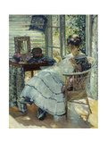 Sewing Giclee Print by Richard Edward Miller