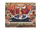 Coronation of Virgin, 1454 Giclee Print by Enguerrand Quarton