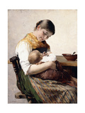 Mother and Child Giclee Print by Georg Jacobides
