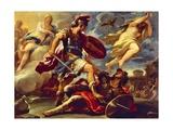 Aeneas Defeats Turnus Giclee Print by Luca Giordano
