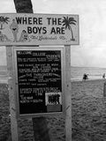Welcome Sign for Spring Breakers, 1962 Photographic Print