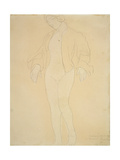 A Nude Female Dancer Giclee Print by Auguste Rodin