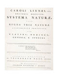 Title Page from 'Systema Naturae', 1735 Giclee Print by Carl Linnaeus