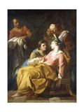 Phaedra Receiving the News of Hippolytus's Death Giclee Print by Noel Halle